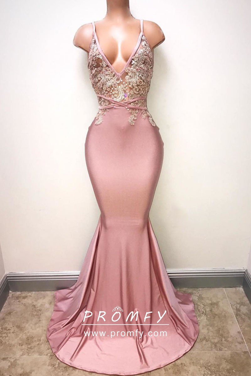 lace pink mermaid lace pink prom dresses