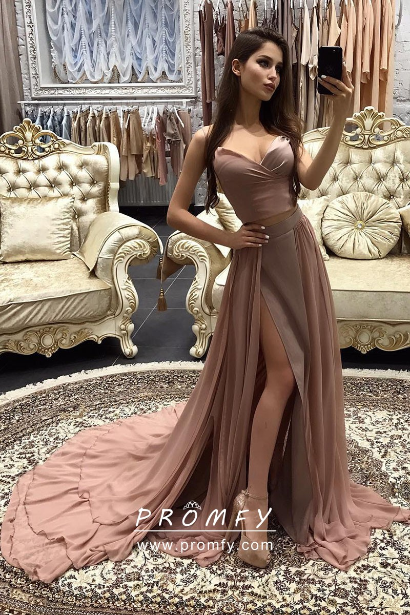 Strapless Gold Prom Formal Dresses