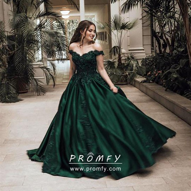 ball dress green