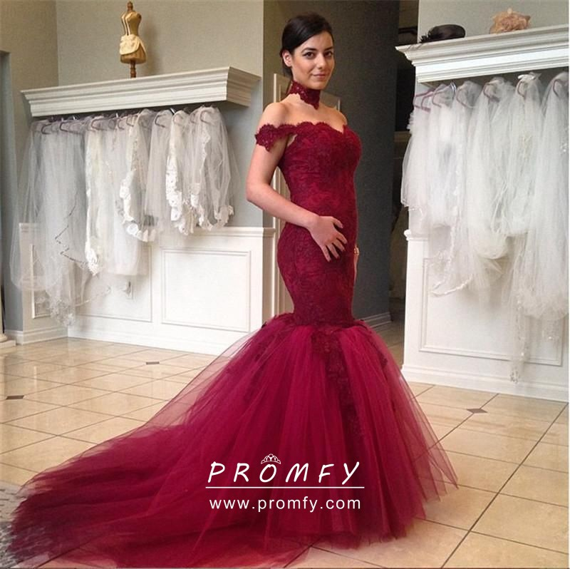 Tulle Trumpet Designer Formal Gown