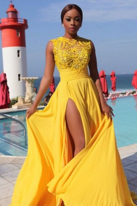 8f579ec2b2e Stunning Yellow Special Occasion Dresses and Gowns - Promfy.com