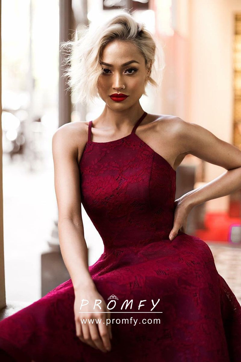 3baba3ec92d Maroon Lace Homecoming Dress - Gomes Weine AG