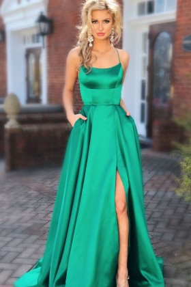 SALE SPECIAL OCCASION GLITTERY A-LINE PROM DRESS LOW BACK EVENING PAGEANT GOWN