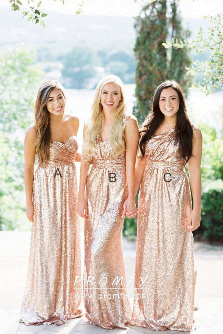 Simply Champagne Sequin A-line