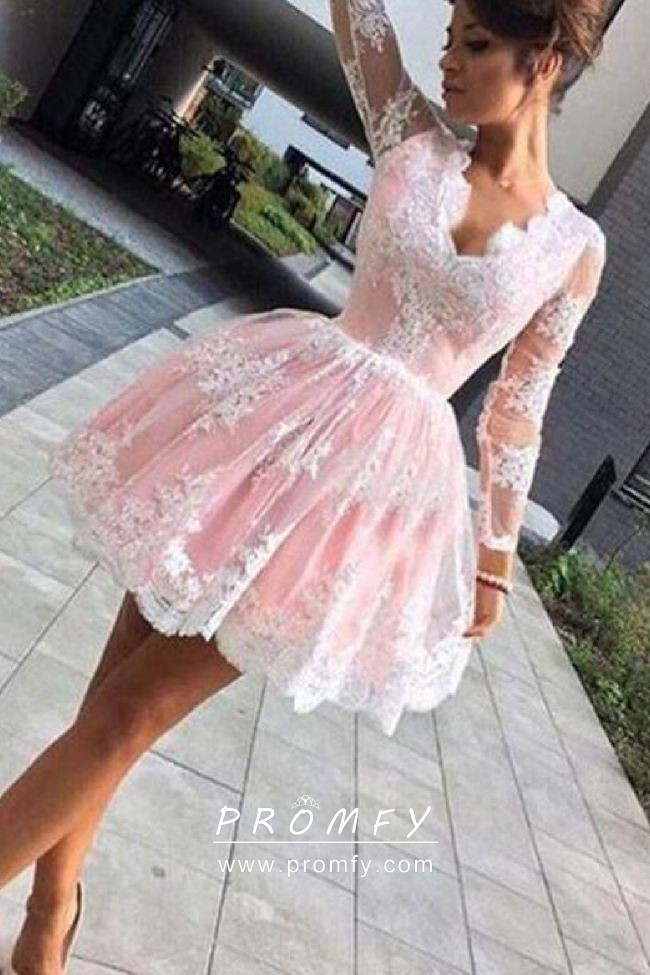 Pink and White Cocktail Dresses