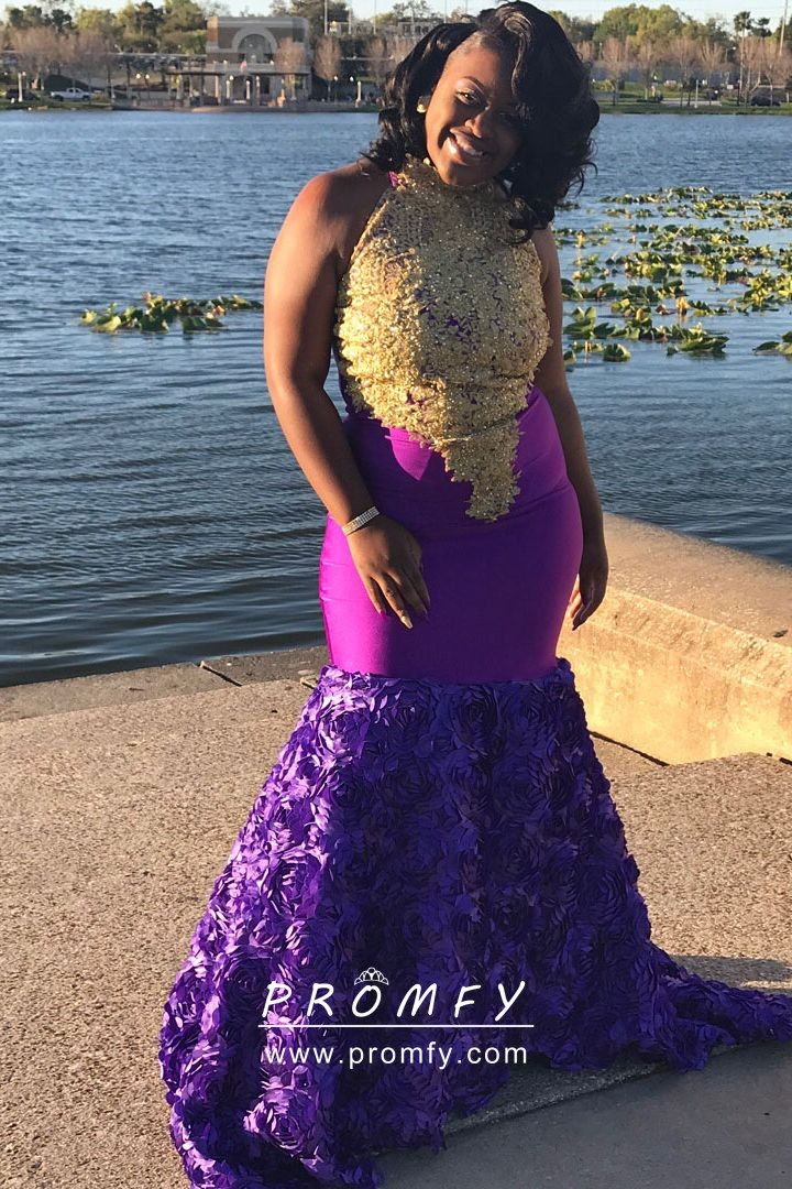 halter-gold-lace-and-purple-3D-rose-merm