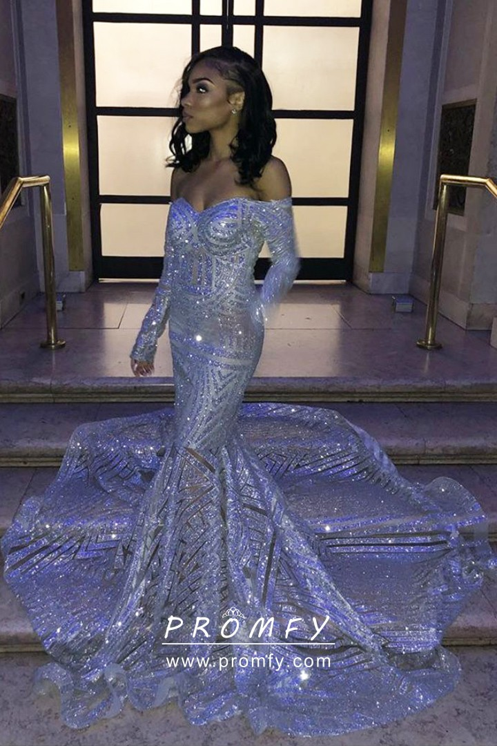 VQ Graceful Rose Gold Sequin & Feather Plus Size Prom Dress