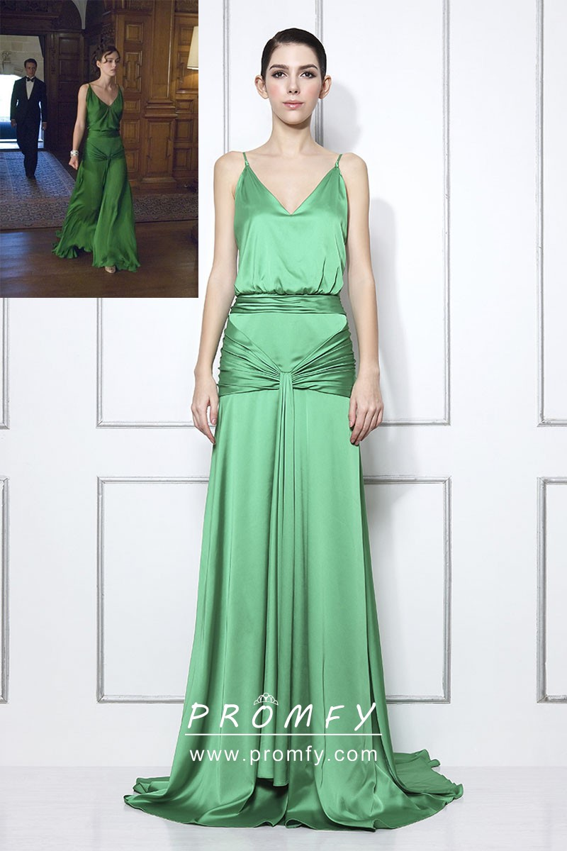 Green Satin Gown