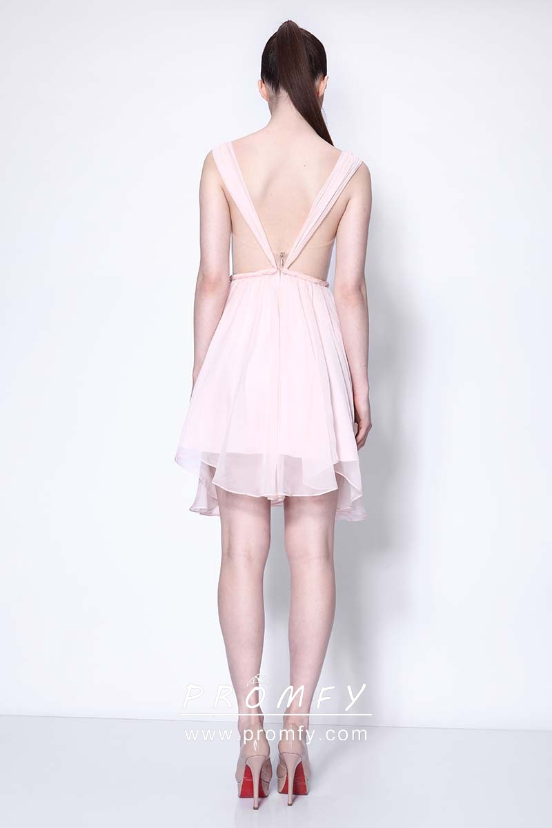 369b5dbc80a baby pink sweetheart wide straps short dress. baby pink sweetheart wide  straps short chiffon celebrity homecoming dress