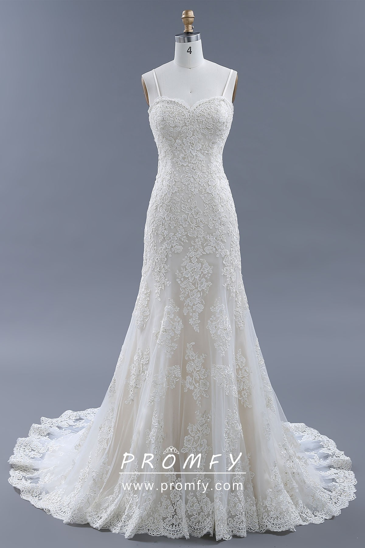 Sweetheart Neckline Trumpet Wedding Dresses