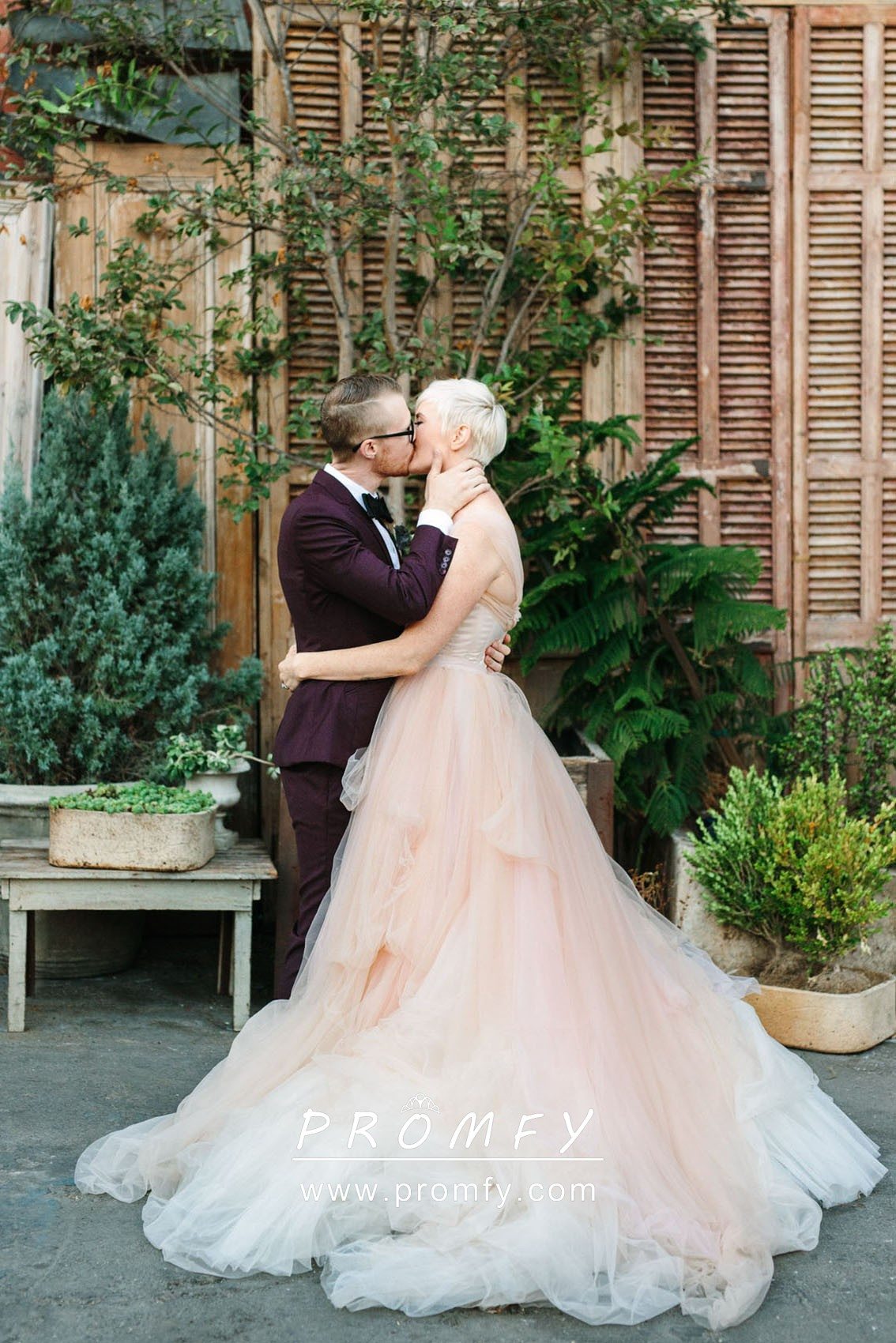 Gorgeous Blush Tulle Sweetheart Floor Length Ball Gown